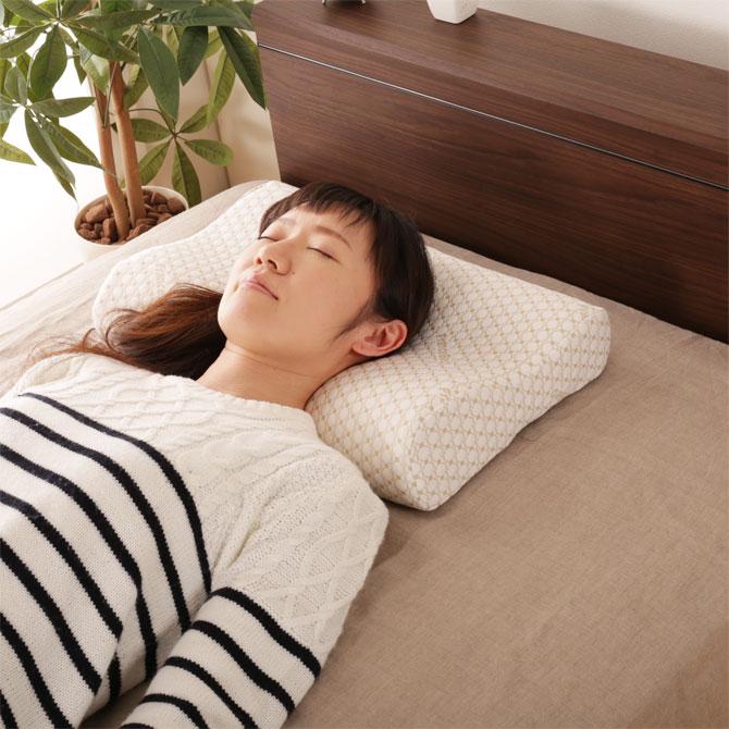 フランスベッド 枕 ぐっすりマクラN  カバー手洗い可 ウェーブ形状 ピロー