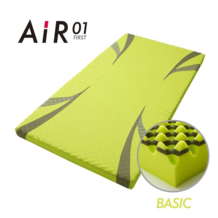 西川 AIR01 エアー01 AIR エアー 01 ダブル ベーシック ハード マットレス ウレタン コンディショニングマットレス 体圧分散 寝姿勢保持 イエロー(BASIC)/ピンク(BASIC)/ブルー(HARD) 高反発マットレス