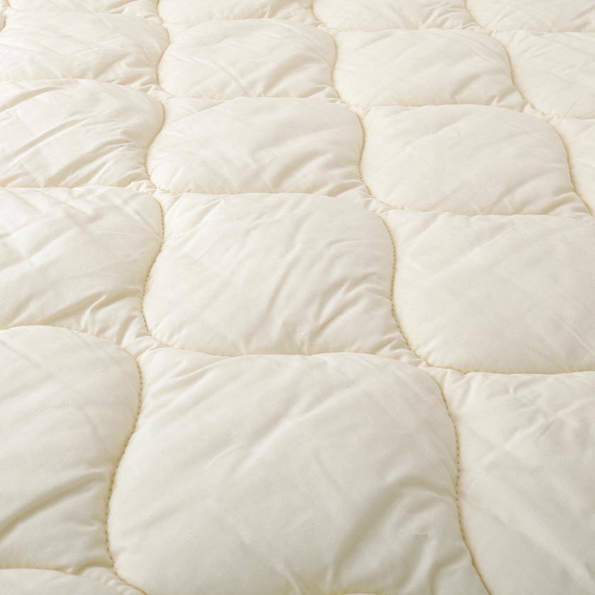 テイジン 防ダニ 抗菌防臭敷きパッド マイティトップ2 ベッドパッド  シングル(100×200cm)  側生地綿100% 敷きパッド