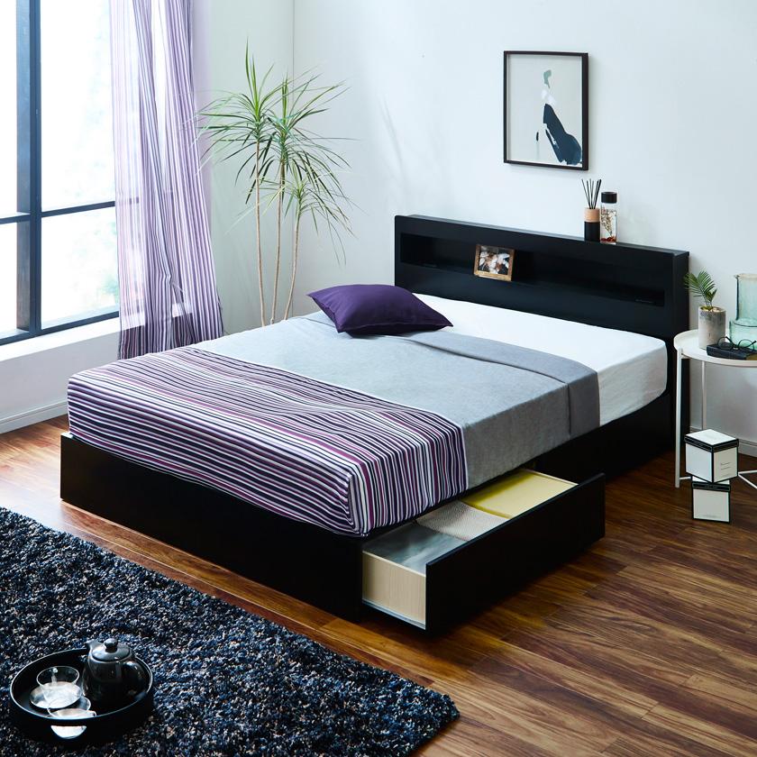 ベッド 収納 引き出し 照明 コンセント