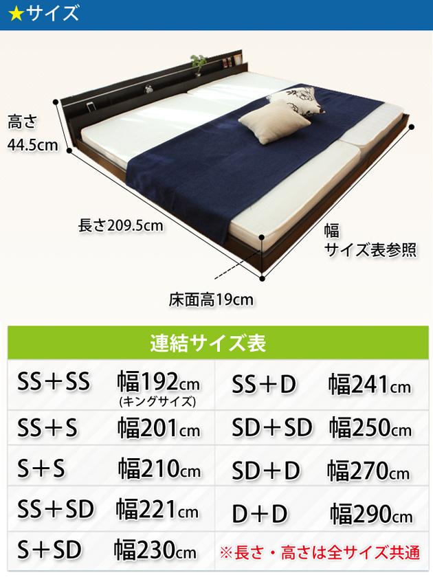 パネル型ラインデザインベッド ダブル SGマーク国産ポケットコイルマットレス付 ホワイト 【】