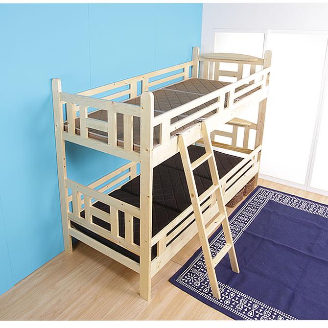 2段ベッド 木製二段ベッド 耐震金具仕様 シングル フレームのみ 組換えてシングルベッド2台