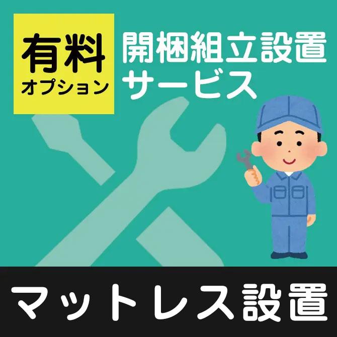 設置 (マットレス 一枚もの(非圧縮型)) ※フランスベッド・東京ベッド・東京スプリング・日本ベッド商品対象【マットレスと一緒にご注文下さい】