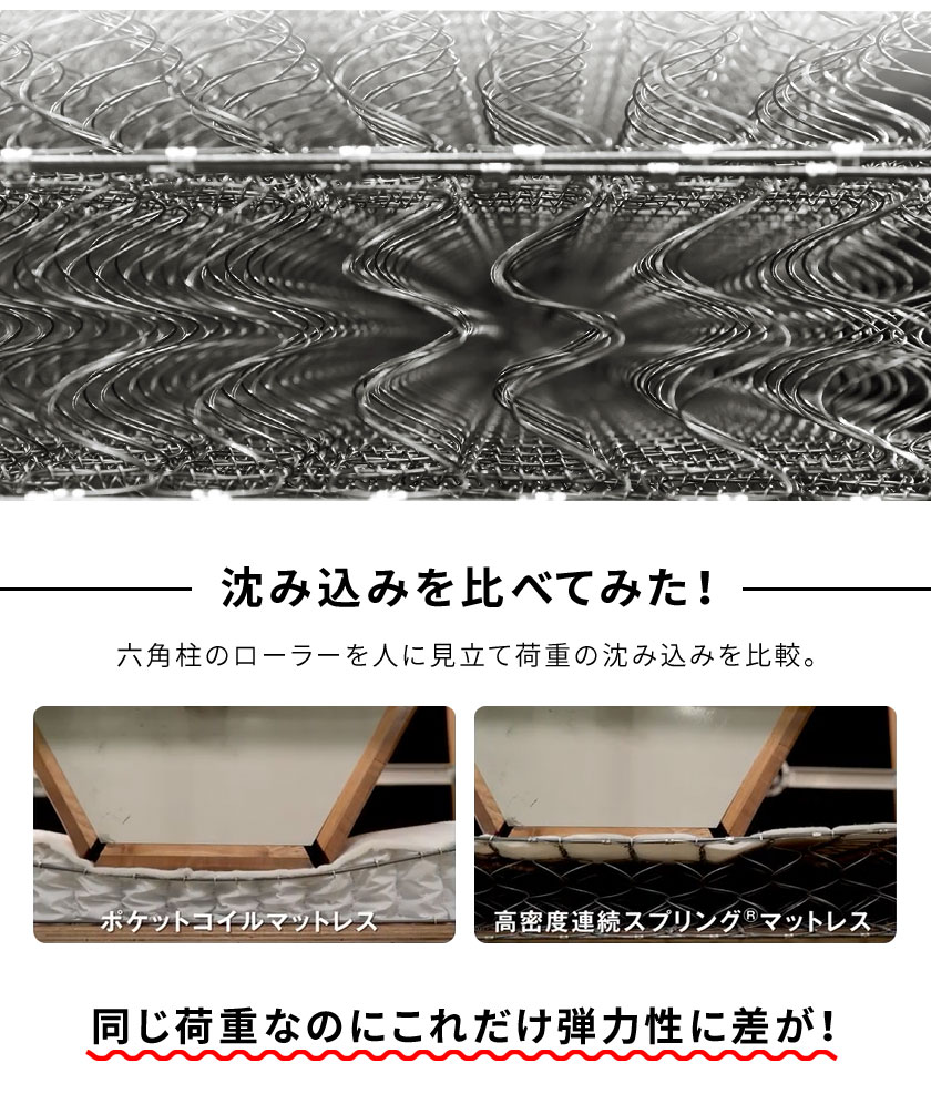 フランスベッド マットレス セミダブル 超硬い 高密度スプリングマットレス マルチラススーパースプリング 2年保証 IFM-002 日本製
