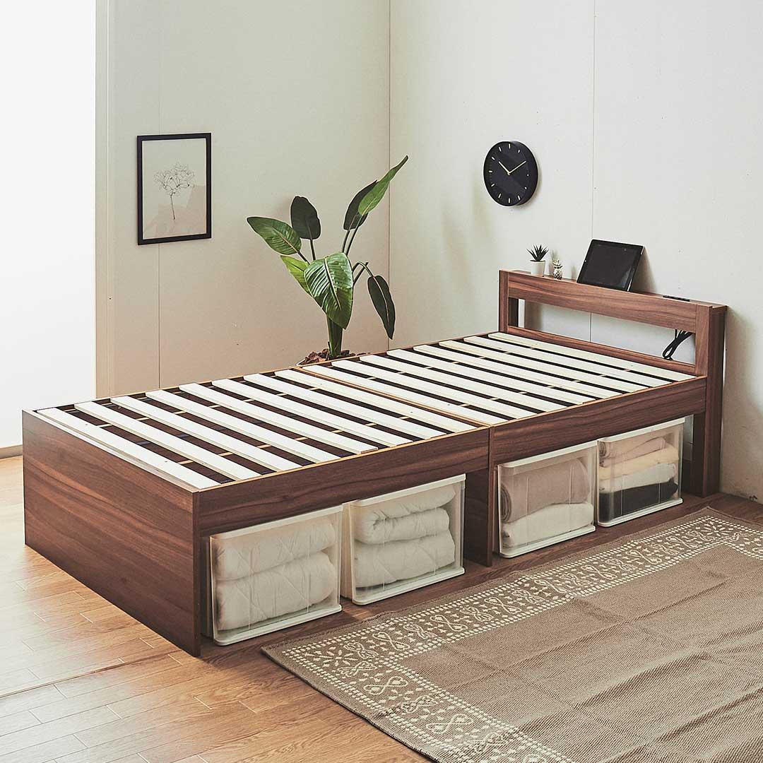 棚付きすのこベッド フレームのみ