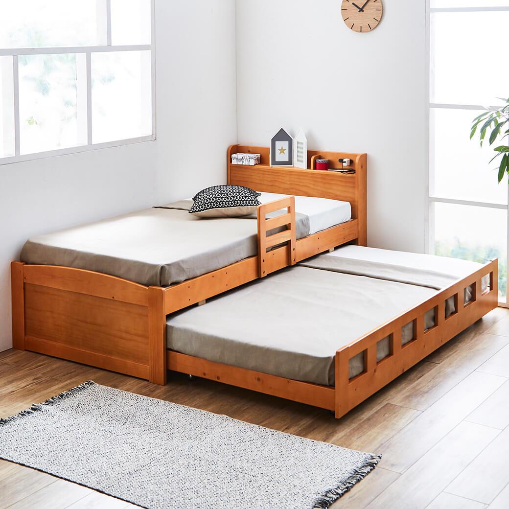 下段は2人でも収納としても使える親子ベッド