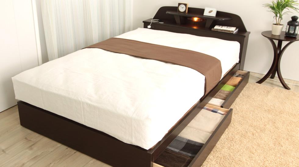フランスベッド 収納付きベッド マルチラスマットレス付き