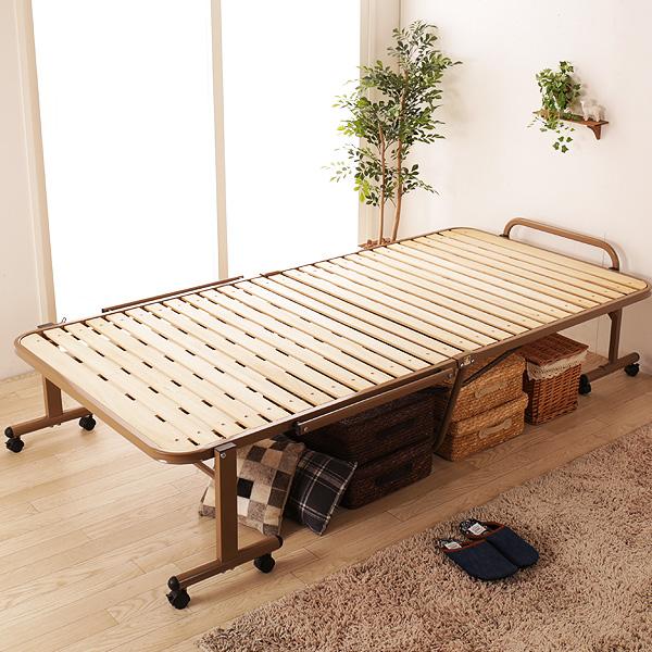 布団が干せる桐すのこベッド