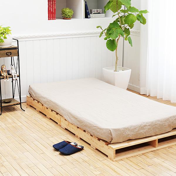 国産ひのきパレットで造るベッド