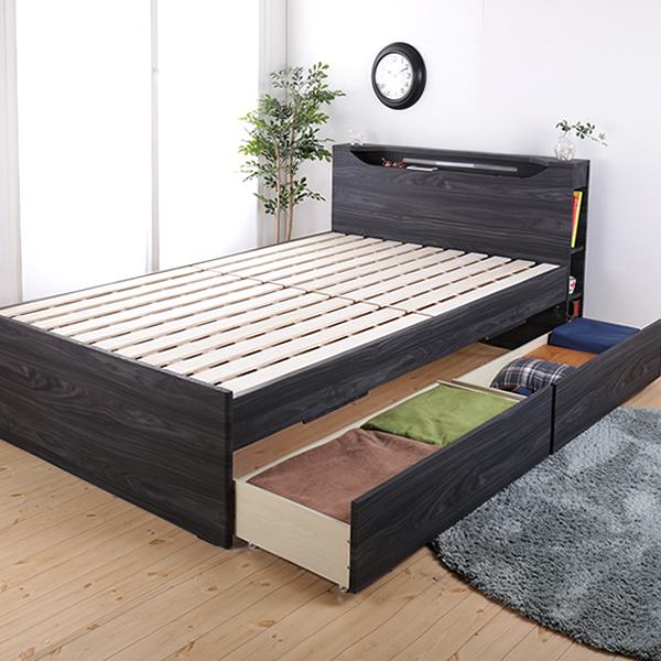 機能が選べる木製すのこベッド