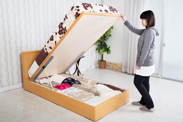 リフトアップ跳ね上げ式ベッド