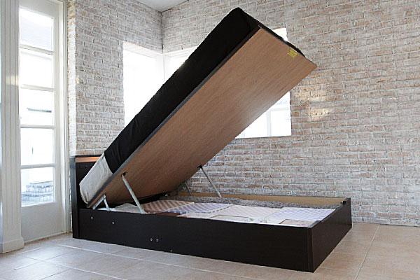 大収納跳ね上げ式ベッド