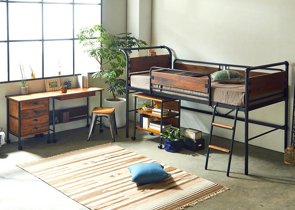 ロフトベッド,システムベッド,男前家具,西海岸家具
