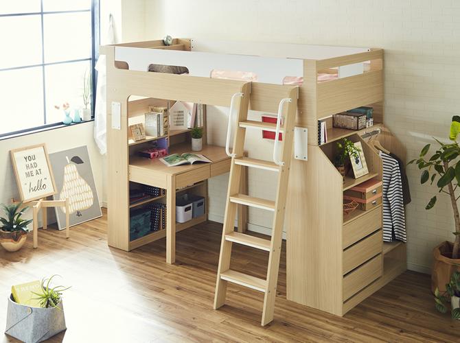 6畳の子供部屋。置くなら二段ベッド?ロフトベッド?