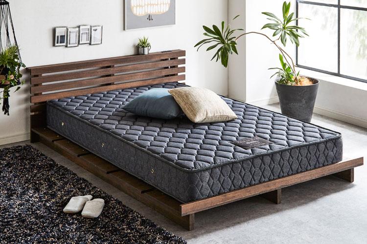 【新商品】ローベッドでお部屋の空間を広く!北欧風天然木ベッド