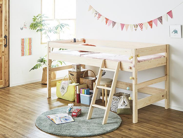 子供部屋のロフトベッドはロータイプがおすすめ!