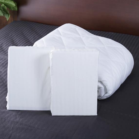 ベッドパッド+BOXシーツ2枚 寝具3点セット